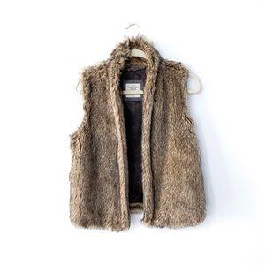 Abercrombie & Fitch Faux Fur Brown Vest